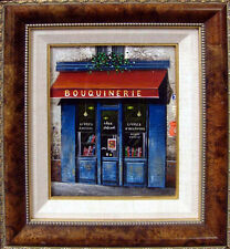 """GiovanniLanna""""Bouquinerie"""" Original Oil Painting Canvas framed Hand Signed"""
