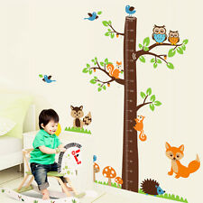 Fox Tree Height Measure Wall Stickers Mural Decal Paper Art Decoration