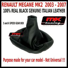 RENAULT MEGANE MK2 2003-2007 GEAR STICK COVER GAITER LEATHER