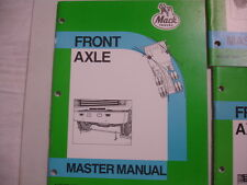 Mack Truck Front Axle Master Manual Factory Repair Shop Service Aug'85 12-100.1