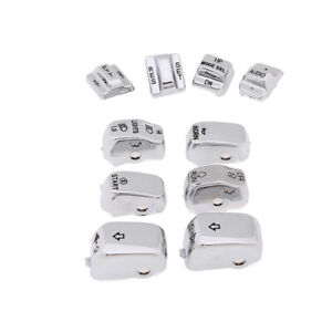 Carve Hand Control Switch Housing Buttons Caps For Harley Touring Road Glide