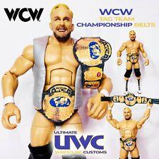 WWE WCW Tag Team Wrestling Belts Set custom for Mattel / Jakks / Hasbro