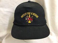 trucker hat baseball cap Motley Fire & Rescue retro vintage rare rave nice