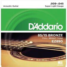 Daddario EZ890 Cordes Lot Western Guitare 009-045 Bronze Corde