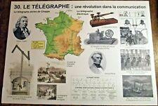 Objet de métier carte scolaire Vintage canal de suez ,Navigation à vapeur
