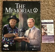 Jack Nicklaus signed 2017 Memorial Tournament PGA Tour Golf Program JSA S76796