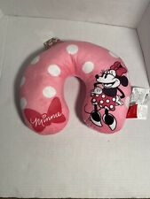 NEW Disney Minnie Mouse Travel Pillow Neck Rest Pink White Polka Dot-11 x 13 NWT