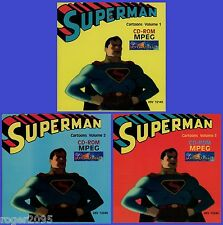 Superman - All 17 Classic 1940's Fleischer Cartoons on 3 NEW 1994 CD-ROM's!