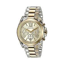 Michael Kors Watch MK6319 Chronograph Bradshaw Goldtone Acetate Watch Agsbeagle