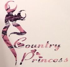 "New Pink Camo Country Princess Car Truck Vinyl Decal 5"" Hunt Deer Browning Girl"