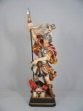 Holzschnitzerei HEILIGER FLORIAN barock H 30 cm neu. Hl Schutzheiliger Feuerwehr