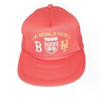 1986 World Series New York Mets Boston Red Sox Snapback Cap Hat ..Trucker