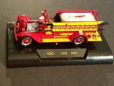 VINTAGE REO Signature Models 1928 RED FIRE TRUCK With Stand