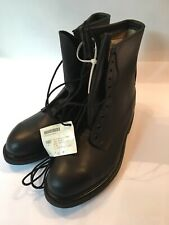Timberland World Wide Vintage Black Leather Boots Military W/Original Tags! NEW!