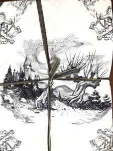 POTTERY BARN TEEN HARRY POTTER Etched Scenes Sheet Set TWIN