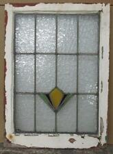 """MID SIZED OLD ENGLISH LEADED STAINED GLASS WINDOW Geometric Abstract 20 x 27.75"""""""