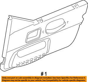 Jeep CHRYSLER OEM 99-02 Wrangler-Door Interior Trim Panel Left 5DY651K5AD