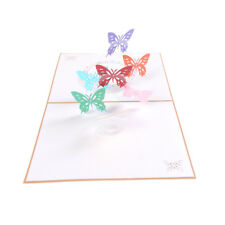 3d Pop up Origami Paper Laser Cut Greeting Cards Handmade DIY Thank You Card EB
