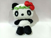 Sanrio Smiles Hello Kitty Black White Panda Tone Plush Toy Beanie Doll Japan 7""