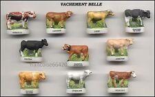 Fèves de collection en porcelaine VACHEMENT BELLE Série complète vaches _ C36