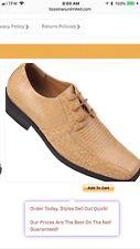 Stacy Adams, Leather, Men's Dress Shoes,Size 10M,Croc Print Black Oxford New!
