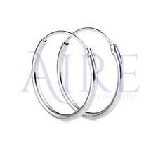 925 Sterling Silver 30mm Hoop Sleeper Earrings Pair