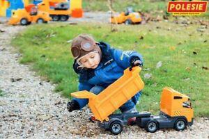 WADER Truck mit Sattelschlepper Anhänger Kinder Spielzeug Baufahrzeug 8749