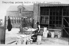 Photo. 1924. Los Angeles, CA. Pneumonic Plague - Preparing Rat Poison Baits