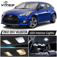 White Interior LED Lights Bulbs Package Kit For 2012-2017 Hyundai Veloster
