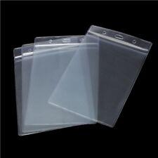10x A6 Vertical identificación de tarjeta que bolsillo plástico titular Transparente bolsas de 17,5 X 11,8 cm