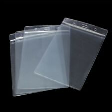 10x A6 VERTICAL ID Badge Card Plastic Pocket Holder Clear Pouches 17.5 x 11.8cm