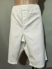 BNWT Womens Sz 18 Autograph White Stretch Denim Elastic Waist Shorts RRP $50