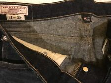 31/32 (Actual 33/33) Wallace and Barnes /J Crew Selvedge Men~INDIGO~Jeans~New~