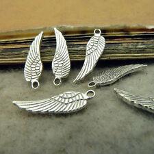 50pc Retro Small Pendant Charm Feather Pendant Jewellery Making Accessories V47