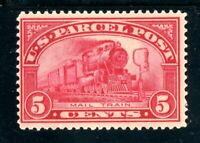 USAstamps Unused FVF US 1913 Parcel Post Mail Train Scott Q5 OG MVLH