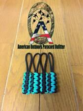 Black and Teal/Turquoise Jeep Wrangler Zipper Pulls YJ TJ JK JKU