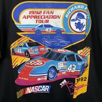 NASCAR Richard Petty 1992 Fan Appreciation Tour T Shirt Size XL Excellent Cond
