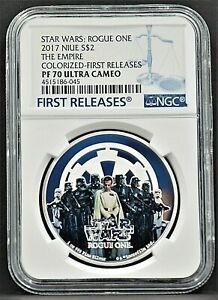 2017 NIUE $2 STARS WARS: ROGUE ONE The Empire FIRST RELEASES UC NGC PF70