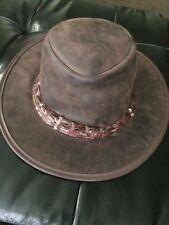 Barmah Hats Outback Crocodile Leather Hat 1033BR / 1033BL / 1033BM / 1033CM