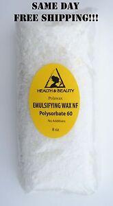 EMULSIFYING WAX NF POLYSORBATE 60 PURE POLAWAX 8 OZ