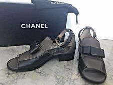 NEW Chanel Leather Sandals Loafer Style. One of a kind!