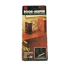 Vintage Mid-Century Acco Book-Keeper Minimalist Book Ends Mcm Nos