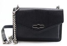 Rebecca Minkoff NEW Black Pebble Leather Jean Chain Crossbody Bag Purse $198-#69