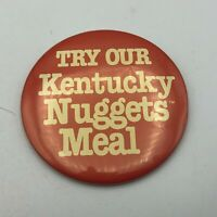 """Vintage KFC Kentucky Fried Chicken Pin Pinback 3"""" Try Our Kentucky Nuggets  Y4"""