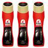 3x Erdal Express Pflegeglanz Schwarz Mandelöl frischt Farbe auf Schuhcreme