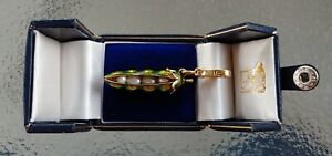 Retired Rare Juicy Couture Pearl in a Pea Pod Charm Green Enamel