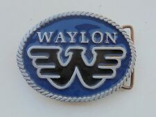 COOL WAYLON JENNINGS OVAL Belt Buckle-new