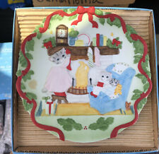 Kitty Cucumber 1990 Twas The Night Before Christmas Plate With Box