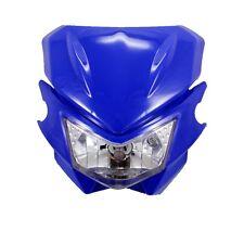 Blue Universal Street fighter Headlight Headlamp for Suzuki DR650SE DR350 DR250