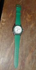 Timex EXPEDITION Indiglo WR 30M Green Sport Wrist Watch w/New Battery